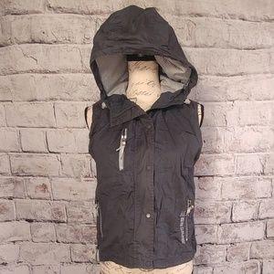 American Eagle windbreaker vest with hood